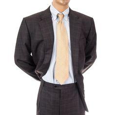 Hickey Freeman New Mens Suit 2 pc Plaid 48L  Blazer Pants Wool Gray Windowpane #HickeyFreeman #TwoButton #MensSuit #SomeLikeItUsed