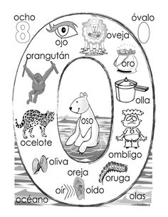 """""""O"""" coloring page"""