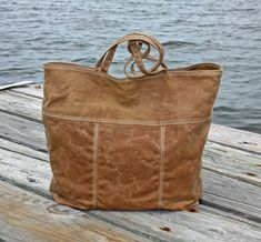 Your place to buy and sell all things handmade Army Tent, Brown Leather Totes, Waxed Canvas, Everyday Bag, Tote Purse, Pouch, Wallet, Leather Backpack, Reusable Tote Bags