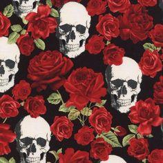 Skulls & Roses - Black - Timeless Treasures