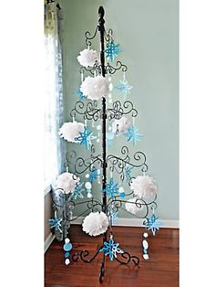 wrought iron tree displays your christmas ornaments solutions - Iron Christmas Tree