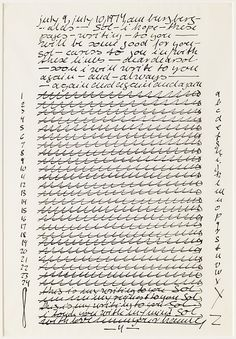 """B: 24th Song, from the portfolio """"Letter and Indices to 24 Songs"""", 1974-Hanne Darboven to Sol LeWitt at The Met Breuer"""