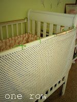 one row: How to: crib side cover