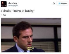 "18 Hilariously Perfect Reactions To Bucky And Black Panther In ""Civil War"""