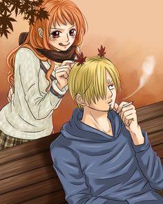 One Piece, Sanji, Nami.