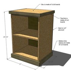 Ana White | Build a Modular Office - Narrow Open File Base | Free and Easy DIY Project and Furniture Plans