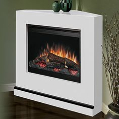 Dimplex Milan White Electric Fireplace Convertible Mantel Package - BSPC-26-CON