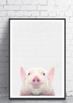 Pig Print, Baby Animal Prints, Farm Animal Print, Nursery Decor, Minimalist Pig Wall Art, Modern Farmhouse, Digital Download by DeziDeziDesigns on Etsy https://www.etsy.com/listing/513415787/pig-print-baby-animal-prints-farm-animal