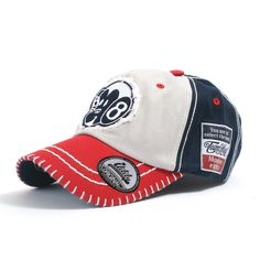 ililily Two-tone Vintage Monkey Character Patched Big Stitch Baseball Cap Precurved Bill with Adjustable Strap Snapback Trucker Hat (ballcap-577)
