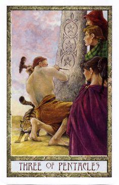 3 of Pentacles - Druid Craft Tarot