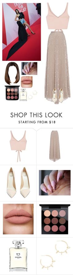 """Charity event with Kendall"" by joelene-garcia ❤ liked on Polyvore featuring Elizabeth and James, Alexis, Francesco Russo, Chanel and Justine Clenquet"
