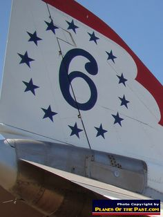Air Force Thunderbird No. 6 - McDonnell F-4E Phantom - on Display at Castle Air Museum, Atwater, California