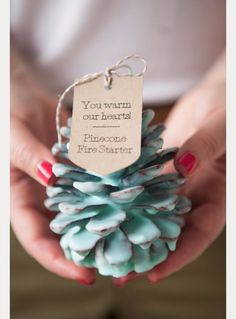 DIY Wedding Favors - DIY Pine Cone Fire Starter Wedding Favors - Do It Yourself Ideas for Brides and Best Wedding Favor Ideas for Weddings - Step by Step Tutorials for Making Mason Jars, Rustic Crafts, Flowers, Small Gifts, Modern Decor, Vintage and Cheap Ideas for Couples on A Budget Outdoor and Indoor Weddings http://diyjoy.com/diy-wedding-favors