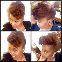 Textured Pompadour Tutorial- Natural Hair Updo | Curly Nikki | Natural Hair Styles and Natural Hair Care