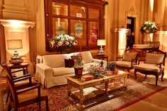 Lounge confortável para os convidados