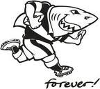 One of the most known South African rugby union teams, the Sharks have a fun and memorable logo, which has stayed with the team since it was officially founded. South African Rugby, Rugby Union Teams, Rugby News, Durban South Africa, Rugby Sport, Shark Logo, Super Rugby, Team Mascots, Yule