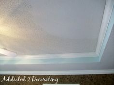 Diy Why Spend More How To Texture A Ceiling Cheaply And