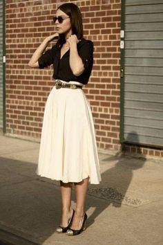 Falda blanca & negro