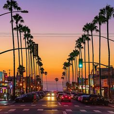 Ocean Beach Canvas Print featuring the photograph Newport Avenue In Ocean Beach, San Diego by McClean Photography. Ocean Beach Pier, Ocean Beach San Diego, Ocean Beach California, Virginia Beach, California Travel, Southern California, Sunset Images, Sunset Pictures, City Aesthetic