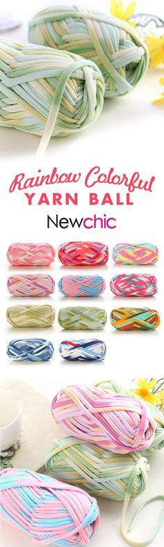 US$39.99 -- 10 Skeins Thick Thread Rainbow Yarn Ball Soft Yarn Skeins for DIY Knitting Craft#newchic#textile#home