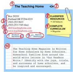 Teaching Home Directory of Home-School Curriculum Suppliers