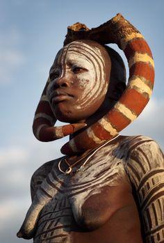 Africa | Mursi woman.  Omo Valley, Ethiopia | ©Dietmar Temps