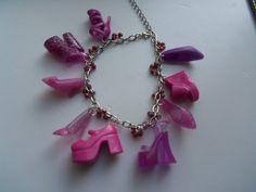 Purple Barbie shoe Bracelet