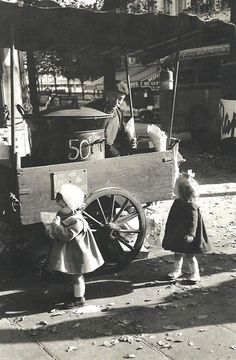 Édouard Boubat  The chestnuts vendor, Paris, 1956