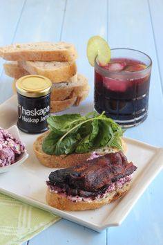 Haskap Bacon Sandwiches | www.purplehousecafe.com