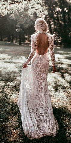 Backless Wedding Dress Mermaid Open Backs Lace Button Wedding Dresses With Long . - Backless Wedding Dress Mermaid Open Backs Lace Button Wedding Dresses With Long Sleeves Source by amanda_lucidi - Wedding Dress Buttons, Best Wedding Dresses, Open Back Wedding Dress, Modest Wedding, Boho Wedding Dress Backless, Backless Wedding Dress With Sleeves, Ling Sleeve Wedding Dress, High Neck Wedding Dresses, Detailed Back Wedding Dress