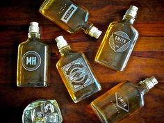 Items similar to Groomsmen Gift – Personalized Flasks - Glass with Cork Top on Etsy Groomsmen Flask, Groomsmen Gifts Unique, Groomsman Gifts, Glass Flask, Cork Stoppers, Boyfriend Gifts, The Ordinary, Whiskey Bottle, Best Gifts