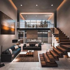 Modern architecture house design with minimalist style and luxury exterior and i. - Modern architecture house design with minimalist style and luxu. Dream Home Design, Modern House Design, Home Interior Design, Exterior Design, Home Room Design, Design Interiors, Modern Home Interior, Interior Ideas, Modern Living Room Design