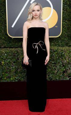 Dove Cameron: 2018 Golden Globes Red Carpet Fashion
