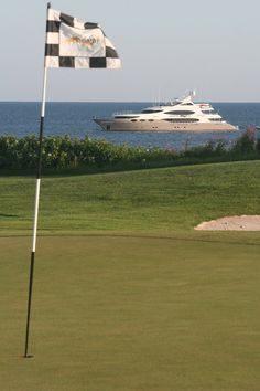 Views From Luxury Charter Yachts: The owner of the 161-foot Trinity Destination Fox Harb'r Too also owns this Nova Scotian golf course.