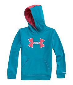 Under Armour 716 Amour Fleece Storm Big Logo Hooded Sweatshirt Lazy Outfits, Sport Outfits, Cute Outfits, Under Armour Sweatshirts, Hooded Sweatshirts, Hoodies, Sports Brands, Sport Wear, Dillards