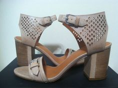 Marc Jacobs Little Diamonds 65mm Heeled Sandal Tan Leather Size 37 / 7 M #MarcJacobs #FashionHeelsSandals