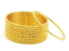 84.60g Size 2 8/16 22kt Gold Bangle Set 188