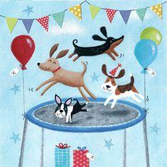 Joanne Cave - Birthday Trampolining Dogs