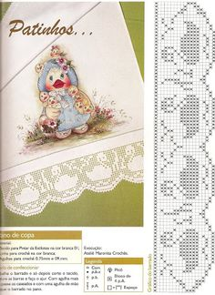 Crochet Dollies, Crochet Birds, Thread Crochet, Love Crochet, Easy Crochet, Crochet Baby, Knit Crochet, Crochet Applique Patterns Free, Filet Crochet Charts