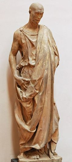 Statue of the Prophet Habakkuk by Donatello at  Campanile di Giotto, from Duomo of Florence