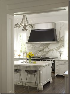 Things That Inspire: Marble countertops.