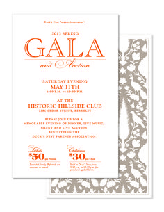 Gala Invite Current Design.  Need to add info about how/where to purchase tickets.