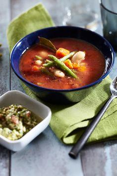 Kasvis-papukeitto ja pistoutahna | Kasvisruoat | Pirkka #food #vegetarian #soups