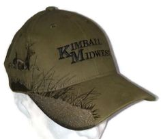 bb3dcd72615af Kimball Midwest Maintenance Repair Embroidered Buck Baseball Cap Hat Dri  Duck Dad Hats