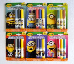 Crayola Minions Crayons and Pip•Squeaks Markers