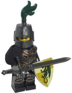 LEGO Dragon Knight (Medieval Templar) - LEGO Kingdoms Castle Minifigure with Full Armor and Claymore Sword by LEGO. $22.99. WARNING: CHOKING HAZARD-SMALL PARTS & SMALL BALLS. NOT FOR CHILDREN UNDER 3 YEARS.. Includes Metallic Claymore Sword! Dragon Breastplate, Shoulder Pauldron, Dragon Shield, Hair accessory and Great Helm with Plume!. Figure stands approximately 2 inches tall.. LEGO Kingdoms Minifigure - Dragon Knight!. LEGO Kingdoms minifigure Dragon Knight with...