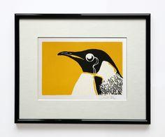 Lord Penguin Linocut £15.00