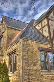 Allrite Home and Remodeling recently won a #Historical #Renovation/Restoration Award from the National Association of the Remodeling Industry (NARI). As Milwaukee's remodeling contractor, we used TruSlate, a GAF product, to create an #authentic look on a period #home.  #Beautiful  #Roofing