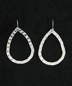 Love this Silver Pounded Teardrop Earrings on #zulily! #zulilyfinds