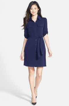 the comfiest navy shirtdress you'll ever own {40% now during Nordstrom's Half Yearly Sale!!}